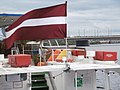 Liepaja Flag Daugava River Riga 8 July 2016.jpg