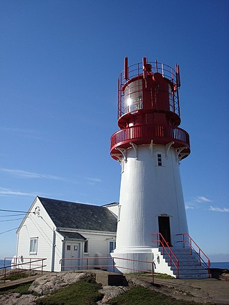 Lindesnes - Lindesnes fyr. The lighthouse is close to the southernmost point of mainland Norway.