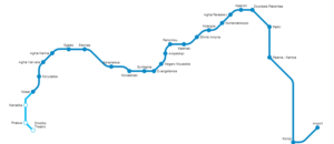 Line 3 (Athens Metro) - Image: Line 3 map (Athens metro)