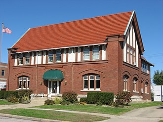 Linton, Indiana - The Carnegie Library