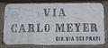 Livorno Via Carlo Meyer street name 01.JPG