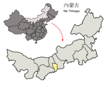 Location of Hohhot Prefecture within Inner Mongolia (China).png