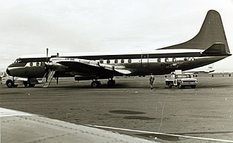 Northwest Orient Airlines Flight 710 - Image: Lockheed L 188C Electra N128US (6925191570)
