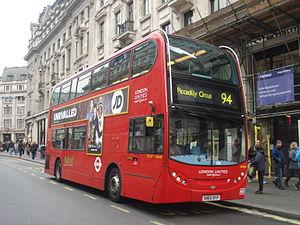 London Buses route 94 - London United Alexander Dennis Enviro400H on Oxford Street in December 2013