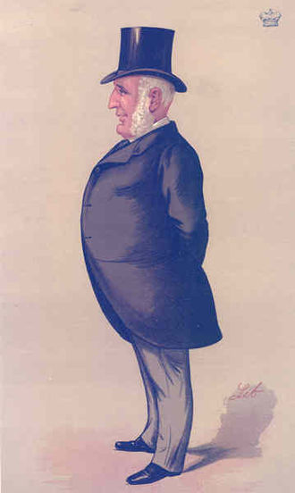 "Edward Baring, 1st Baron Revelstoke - ""Barings"" Lord Revelstoke as caricatured by Liborio Prosperi in Vanity Fair, September 1888"