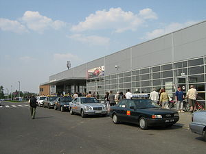 Radom Airport - Terminal 2 building in use at Łódź Airport before dismantling.