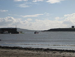 Loughshinny Harbour with headland of Drumanagh on right