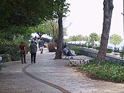 The Louis Promenade at the top of Mount Carmel