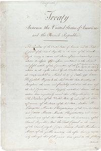 The original treaty of the Louisiana Purchase.