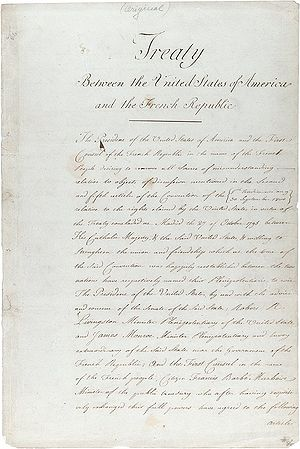 Jeffersonian democracy - The original treaty of the Louisiana Purchase
