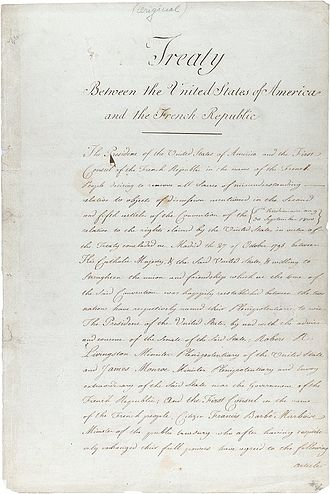 Louisiana Purchase - The original treaty of the Louisiana Purchase