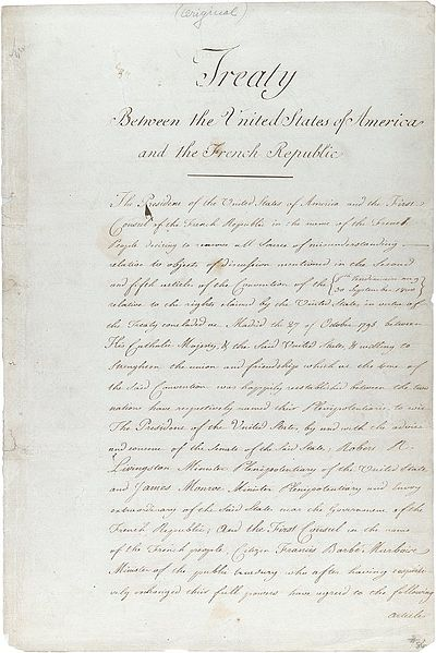 File:Louisiana purchase treaty.jpg