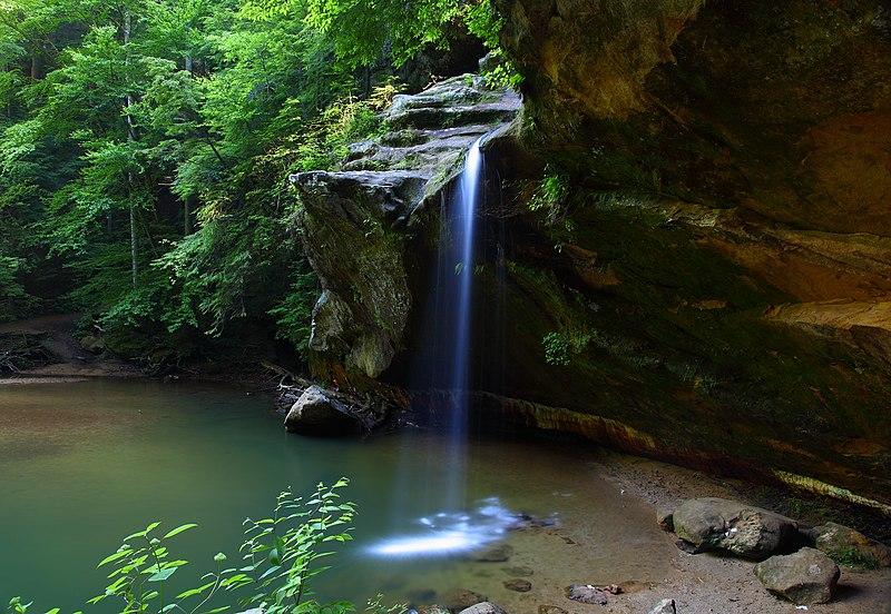 File:Lower-Waterfalls-Old-Mans-Cave-Ohio - West Virginia - ForestWander.jpg