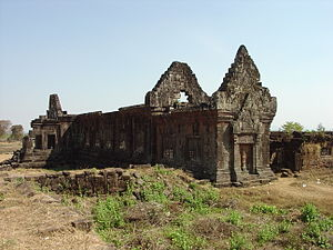 History of Laos - Lower terrace of the Wat Phu mountain complex, Champasak