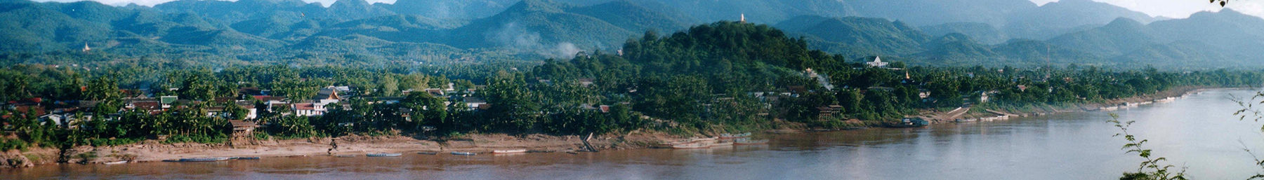 The town on the banks of the Mekong.