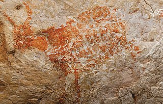 Paintings, often prehistoric, on cave walls and ceilings