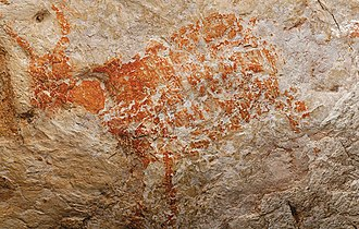 Painting - The oldest known figurative painting is a depiction of a bull discovered in the Lubang Jeriji Saléh cave, painted 40,000 years ago or earlier.