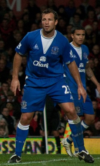 Lucas Neill - Neill and national teammate Tim Cahill playing for Everton in 2009