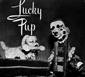 Foodini the Great - Lucky Pup and Jolo the clown in 1949.