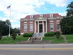 The U.S. Post Office in Lumberton, Mississippi