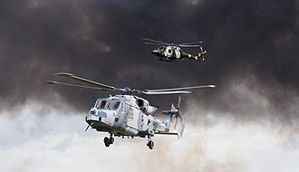 AgustaWestland AW159 Wildcat - Wildcat AH1 and its land predecessor, the Lynx AH7, 2014