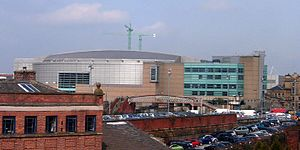 Manchester Arena - Exterior of the arena, seen from the west (c.2006)