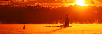 Whaleback Light - Image: ME Whaleback Light Kittery ME 03