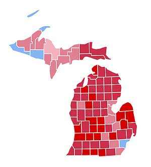 United States presidential election in Michigan, 1984 - Image: MI1984