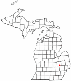 Location of Grand Blanc Township within Genesee County, Michigan.