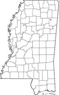 Location of Wren, Mississippi