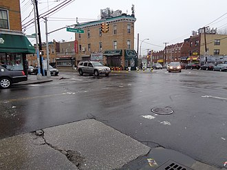 Q72 (New York City bus) - The former southern terminus of the streetcar line, at Junction Boulevard and Corona Avenue