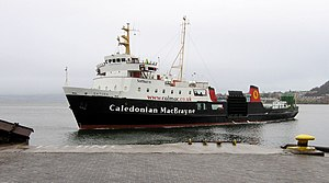 Caledonian MacBrayne - MV Saturn (Satharn in Gaelic) arrives at Gourock