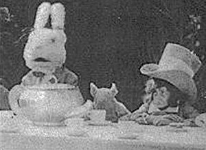 Alice's Adventures in Wonderland (1910 film) - Image: Mad hatter hare 1910