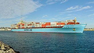 Maersk Line - Image: Maersk Virginia, Fremantle, 2015 (03)