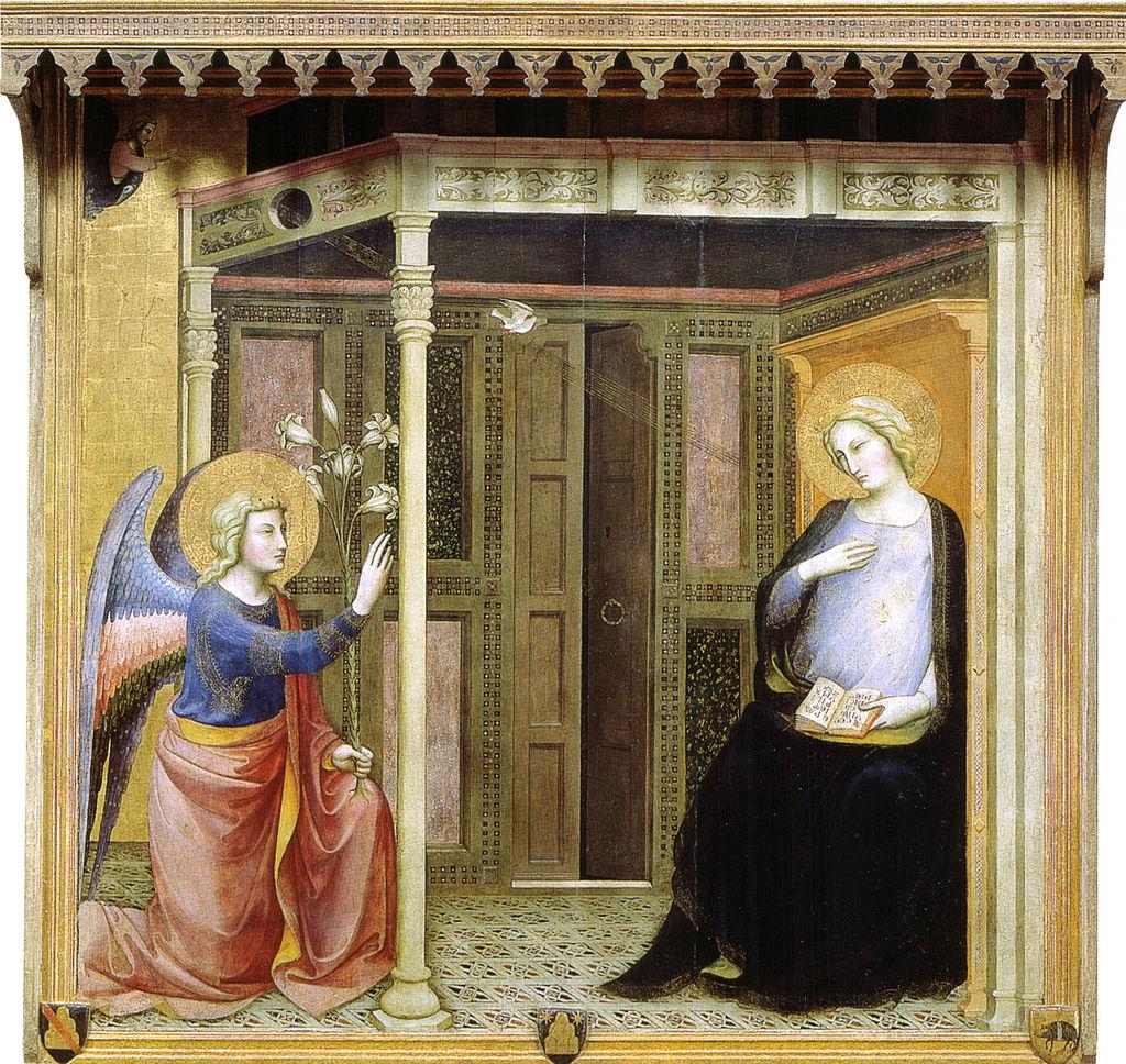 Maestro della madonna strauss, annunciazione, 1390s