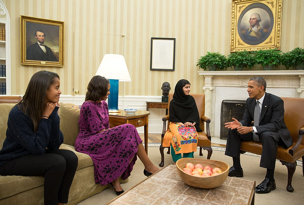 Malala Yousafzai Oval Office 11 Oct 2013