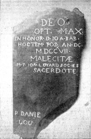 Meductic Indian Village / Fort Meductic - Image: Maliseet Tablet 1717