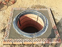 A pit made from brick and mortar built for Mandi cooking.