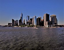 27a37a76997c7f Picture of the New York City Manhattan Skyline taken from aboard Staten  Island ferry.
