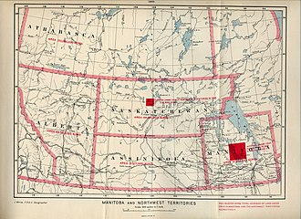 Assiniboia - A 1900 map showing the boundaries of the second District of Assiniboia.