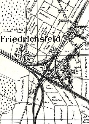 Main-Neckar Railway - Friedrichsfeld junction in 1900