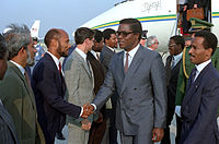 Manuel Pinto da Costa and US State Department delegation, Andrews Air Force Base, Maryland - 19860926.jpg