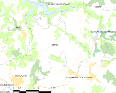 Map commune FR insee code 15144.png