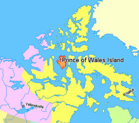 Map indicating Prince of Wales Island, Nunavut, Canada.png