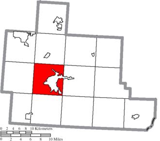 Athens Township, Athens County, Ohio - Image: Map of Athens County Ohio Highlighting Athens Township