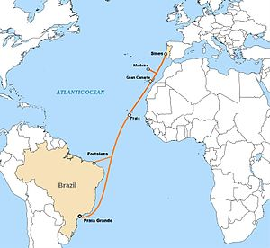 EllaLink - Image: Map of Ellalink submarine cable routes