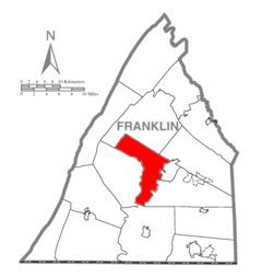 Map of Franklin County, Pennsylvania Highlighting Hamilton Township.PNG