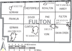 Map of Fulton County Ohio With Municipal and Township Labels.PNG