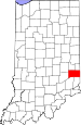 Map of Indiana highlighting Franklin County.svg