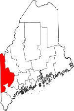 Map of Maine highlighting Oxford County.svg